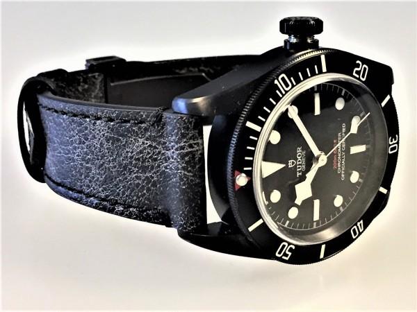 Tudor Black Bay Dark, Lederband Vintage Style, Ref. 79230DK