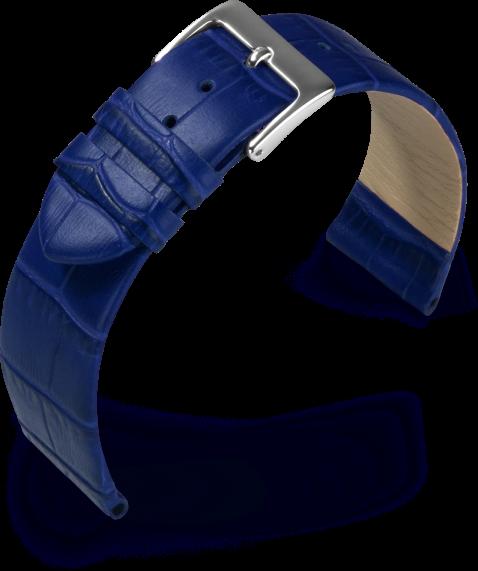 Lederband Rainbow blau 12 mm