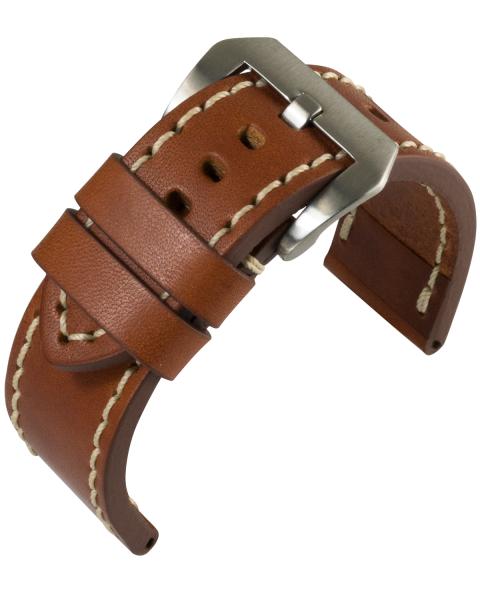 Robustes Uhrarmband Aeronautica hellbraun 805062222