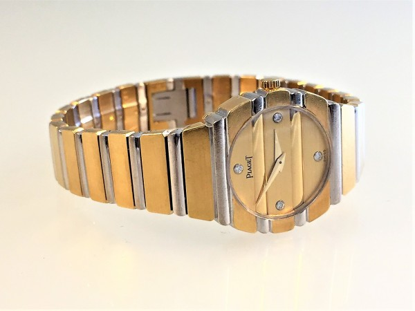 Piaget Polo 18 Karat Gold, Ref. 861C701, DAU, 23 mm, Zifferblatt mit 4 Diamanten