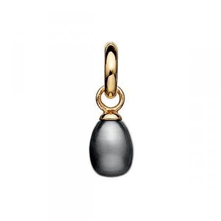 STORY Charms Silber vergoldet Graue Süßwasserzuchtperle 5308801