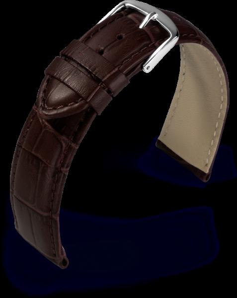 Uhrarmband Guinea dunkelbraun Kroko Optik 800762027