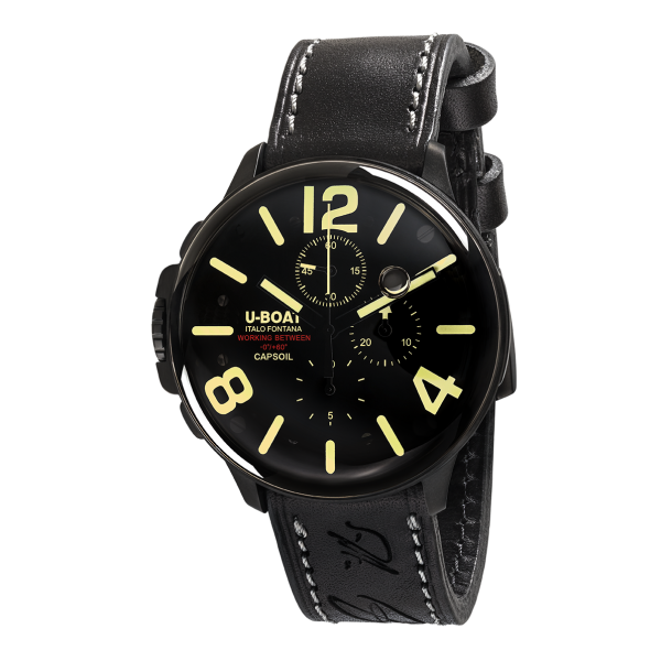 U-Boat CAPSOIL CHRONO DLC, ZB schwarz, Kalbslederband schwarz, Ref. 8109