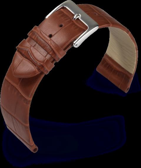 Uhrarmband Rainbow cognac Kroko Optik 390 11425