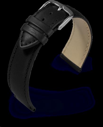Lederband Taurus schwarz 22 mm 342 62210