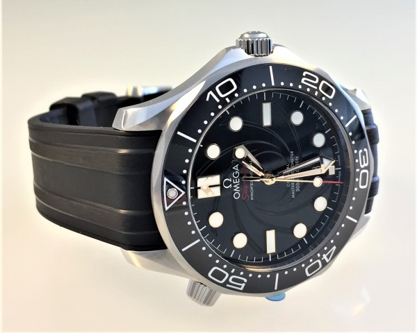 Omega Seamaster Diver 300M, James Bond 007, limited Edition, Chronometer Co-Axial, Full Set, 2020