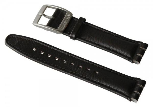 Ersatzarmband Irony Chrono X-LARGE / LEATHER BLACK STEEL