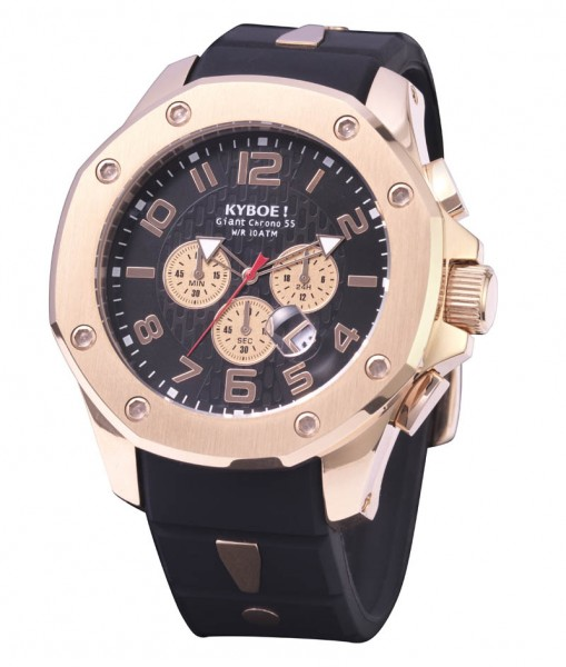 KYBOE! KPR.55-001.15 CHRONO PORT ROSE BLACK