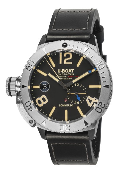 U-Boat Italo Fontana, SOMMERSO, Stahl, 46 mm, 30 ATM, schw. Blatt, Ref. 9007