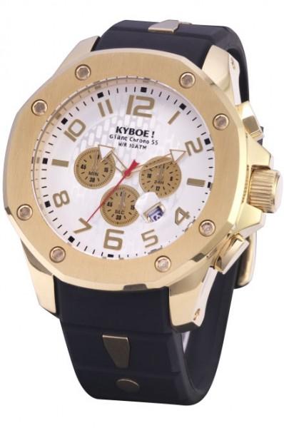 KYBOE! KPG.55-001.15 CHRONO PORT GOLD WHITE