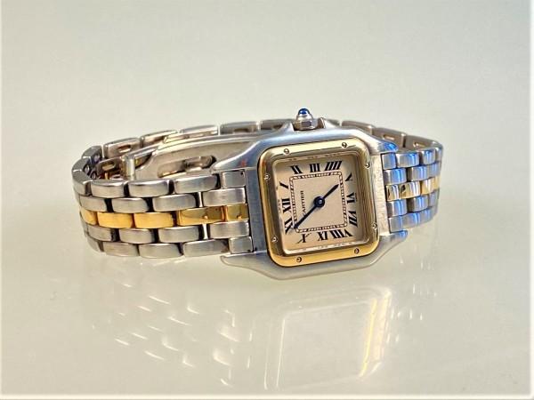 Cartier Panthère W25029B5 1120/66921, 22 mm, Stahl/Gold, Box/Papiere