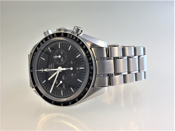 Omega Speedmaster Moonwatch Professional Chrongraph 42 mm, Handaufzug, Saphirglas