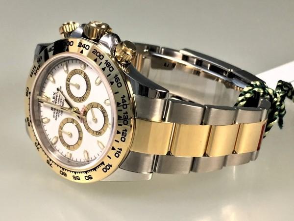 Rolex Daytona, Stahl/Gelbgold, Ref. 116503, Zifferblatt weiss