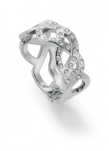 MELTED BEAUTY RING,SS,W. CRYST