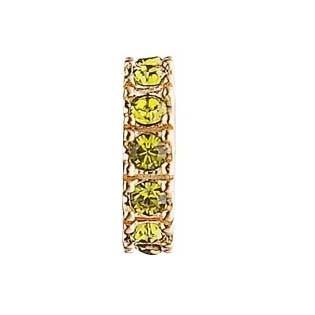 STORY Ring Silber vergoldet mit oliven Zirkonia 5208586