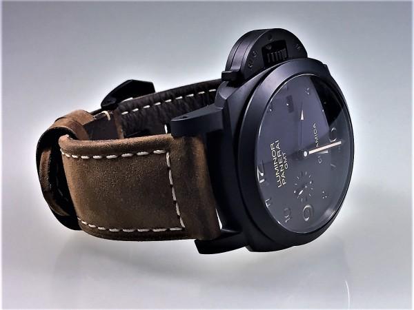 Panerai Luminor 1950 3 Days GMT PAM 441, Keramik, Leder, 2020, Full Set